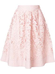 юбка с цветочной вышивкой  Steffen Schraut