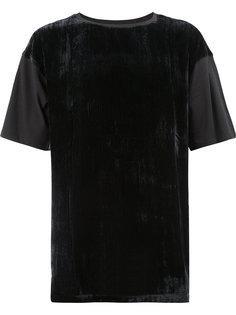 вельветовая футболка с ребристой фактурой Ann Demeulemeester