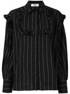 рубашка с оборками MSGM
