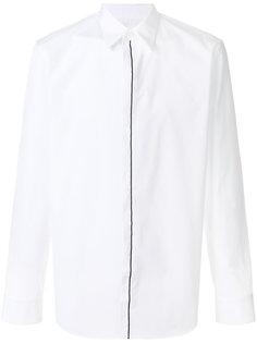 рубашка с контрастной окантовкой планки Maison Margiela