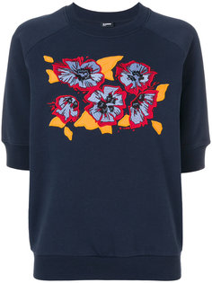 толстовка с короткими рукавами и цветочным принтом  Jil Sander Navy