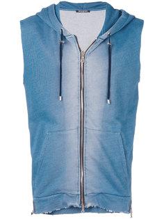 zipped sleeveless hoodie Balmain