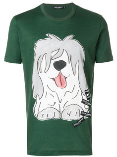 футболка с принтом собаки Dolce & Gabbana