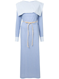 sailor striped long dress N Duo