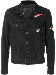 вельветовая куртка с заплатками  Lanvin