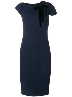 платье с оборками на плечах  Lanvin