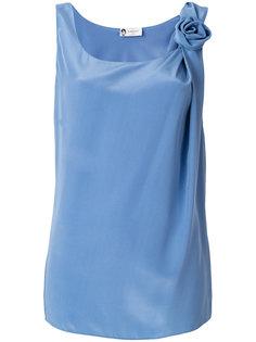 блузка с цветочной аппликацией  Lanvin