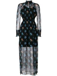 прозрачное платье с узором Markus Lupfer