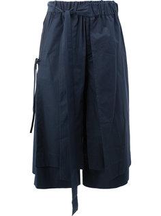 расклешенные шорты с заниженным шаговым швом Craig Green