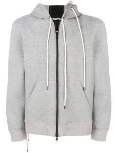 laced bonded zip hoodie Craig Green