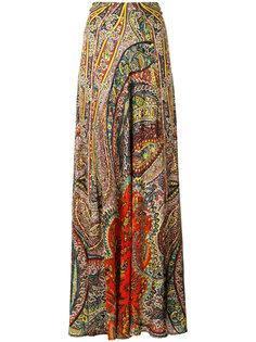 """длинная юбка с принтом """"пейсли"""" Etro"""