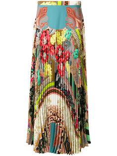"""плиссированная юбка с принтом """"пейсли"""" Etro"""