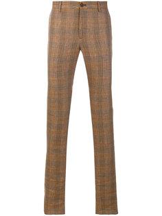 брюки прямого кроя в клетку Etro