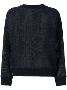 tartan mesh semi-sheer jumper Mr & Mrs Italy