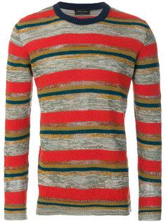 вязаный свитер с полосатым узором Roberto Collina