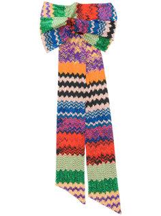вязаная повязка на голову с полосатым узором Missoni