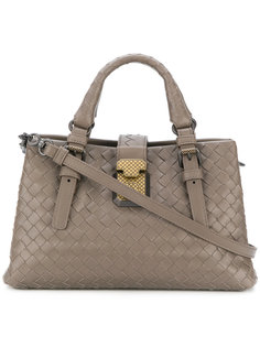 маленькая плетеная сумка Roma Bottega Veneta