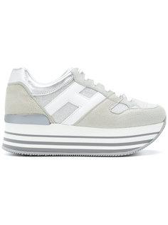кроссовки с логотипом на платформе Hogan