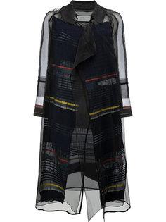 полупрозрачное пальто с полосками  Quetsche