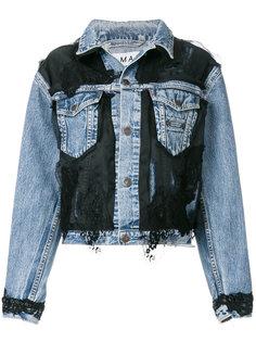 джинсовая куртка с кружевной вставкой  Almaz