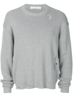 свитер с потертой отделкой Golden Goose Deluxe Brand