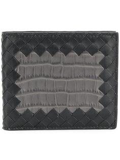 кошелек Intrecciato с эффектом крокодиловой кожи  Bottega Veneta