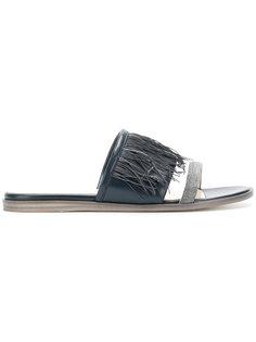 сандалии с бахромой Fabiana Filippi