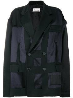 пальто-кокон с полупрозрачной вставкой  Maison Margiela