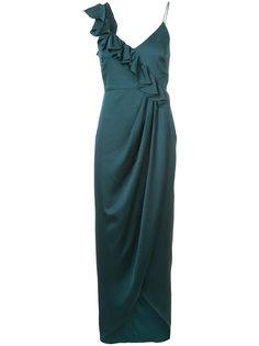 длинное платье с оборками Shona Joy