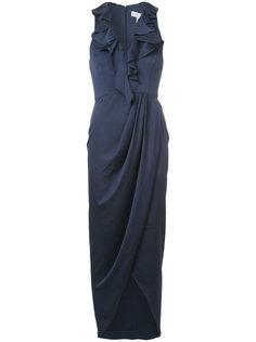 длинное платье без рукавов с оборками Shona Joy