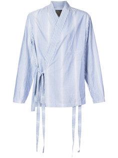 полосатая куртка-рубашка в стиле кимоно Siki Im