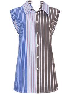блузка в полоску без рукавов  Marni