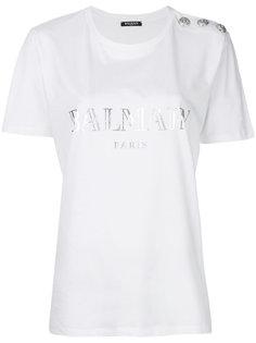 декорированная футболка Balmain