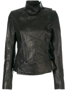 куртка с мятым эффектом Ann Demeulemeester
