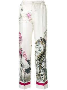 брюки с принтом тигра  F.R.S For Restless Sleepers