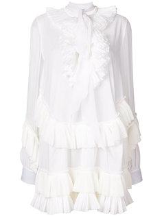 платье-рубашка с оборкой  Givenchy