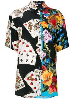 рубашка с принтом игральных карт Dolce & Gabbana