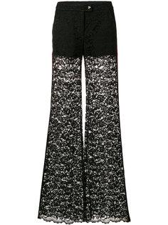 расклешенные брюки с контрастными панелями Philipp Plein