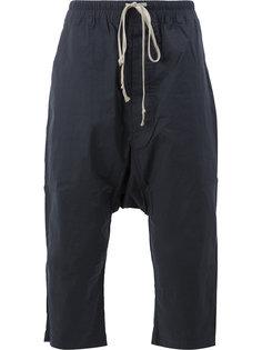 брюки с заниженным шаговым швом со шнурком на талии Rick Owens DRKSHDW