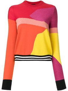 трикотажный фактурный свитер колор-блок  Ps By Paul Smith