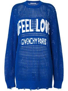 свитер со слоганом Feel Love и логотипом Givenchy