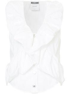 блузка с оборками без рукавов Moschino