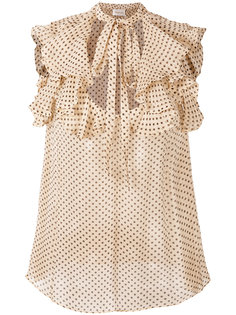 блузка в горох с завязкой  Zimmermann