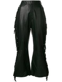 расклешенные брюки с бахромой  Ellery