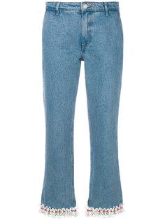 джинсы с кружевной отделкой  Jour/Né