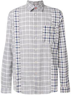 рубашка в клетку с панельным дизайном Ps By Paul Smith