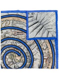шарф с принтом Map Faliero Sarti