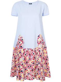 платье с цветочным принтом Jil Sander Navy