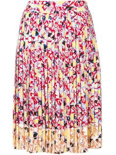 юбка миди с цветочным принтом  Jil Sander Navy