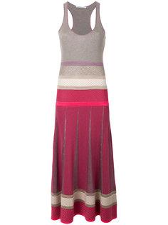 расклешенное платье макси с вырезом рейсер  Agnona